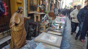 Flea market on Thursday in calle Feria in Seville